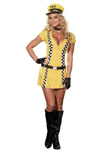 Tina Taxi Driver Costume - X-Large - Dress Size (Yellow Taxi Costume)