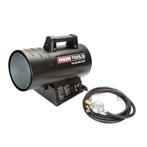 OEMTOOLS 24822 40-60K Btu Liquid Propane Heater Built In Liquid Propane Heater
