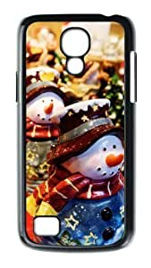 Merry Christmas Snowman Christmas Decoration Custom A Hot Case Fits SamSung Galaxy S4 mini i9192/i9198 Samsung Case Cover