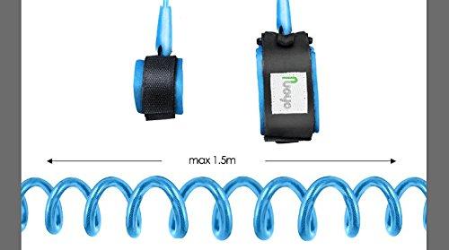 Beb/é Anti-lost Cintur/ón Arn/és de Seguridad Compras etc. NuoYo Ni/ño Anti-lost Correa de Mu/ñeca para Caminar 1.5m//Azul