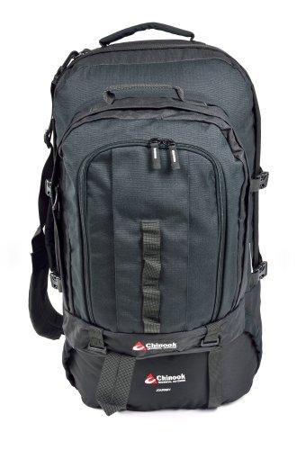 Chinook Journey Internal Frame Travel Pack, Black, 65-Liter by Chinook