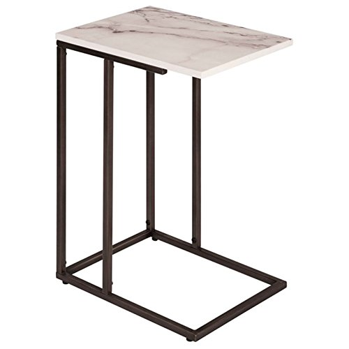 (Serta Harton C Shape Side Table, Midnight Black)