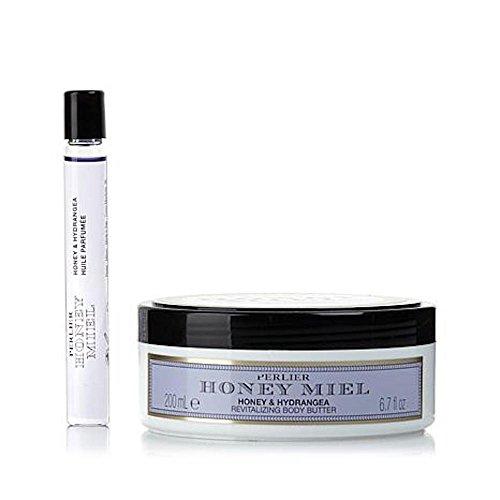 Perlier Honey & Hydrangea Duo - Body Butter and Eau de Parfum Roller