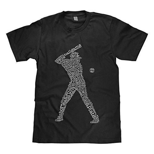 Mixtbrand Big Boys' Baseball Player Typography Youth T-Shirt L Black ()