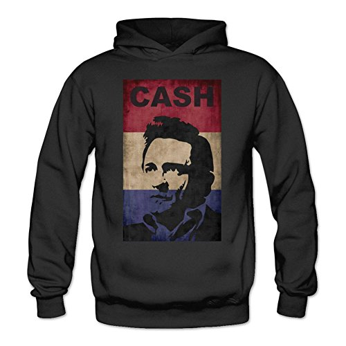 XIULUAN Women's Johnny Cash J.R Hoodied Sweatshirt XXL ColorName