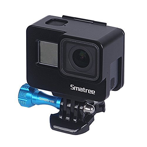 Smatree Frame Mount Housing Case Compatible with GoPro Hero 7/6/5/GOPRO Hero (2018),Aluminum Alloy Protective Shell Case with Plastic Quick Release Buckle ()