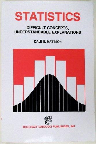 Statistics: Difficult Concepts, Understandable Explanations