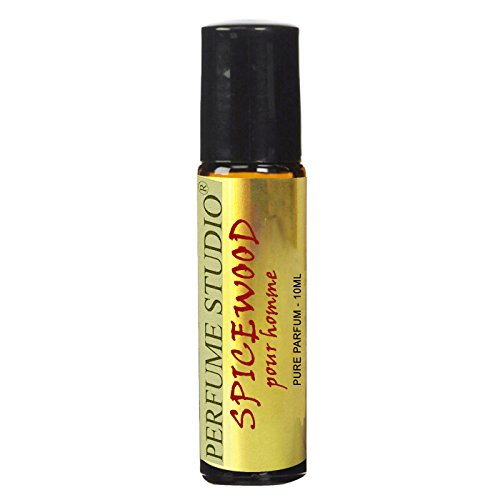 Perfume Studio Spicewood Pour Homme. A Richly Elegant, Aromatic, Fresh, and Spicy Oriental Scent for Men; 10ml Amber Glass Roll On Bottle.