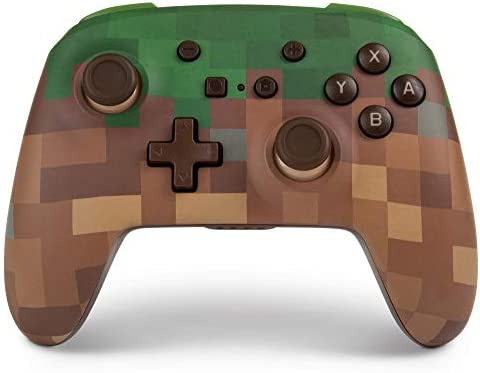 Mando inalámbrico PowerA para Nintendo Switch: Minecraft Grass ...