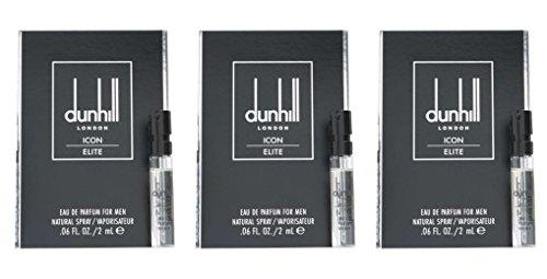 3x Dunhill Icon Elite Eau de Parfum for MEN Sample Size .06fl.oz/2ml