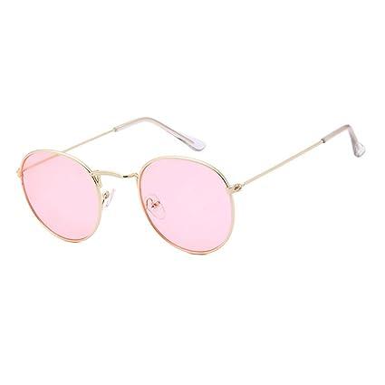 attachmenttou Gafas de sol redondas de la vendimia de las mujeres Puntos Sun Glasses Unisex Gafas de protección solar