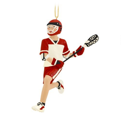 Kurt Adler Resin Lacrosse Boy Ornament (Player Ornament Christmas Lacrosse)