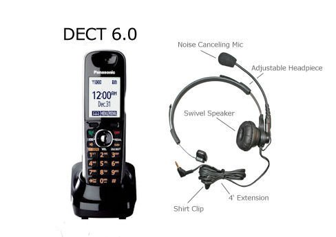 Panasonic Dect 6.0 Plus Accessory Handset With Large Easy to Read Buttons.*** WITH FREE HEADSET ***, Office Central