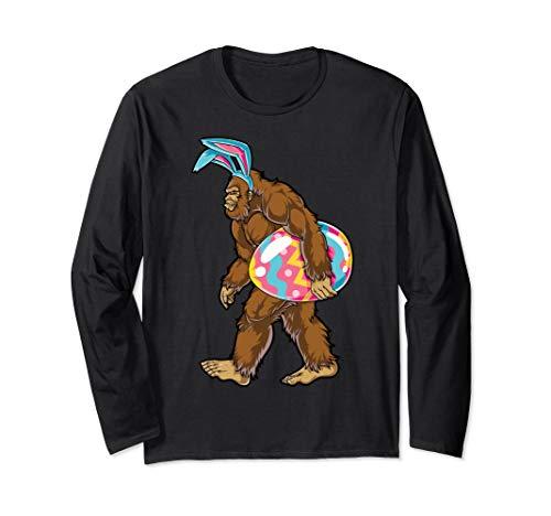Bigfoot Easter Bunny T shirt Sasquatch Ears Egg Gift Men Tee]()