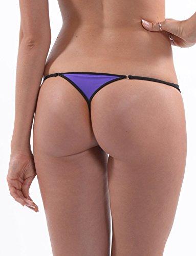 SKINSIX Designer Bikini-Set BOND bwu 155 String bwo 185 Bandeau Top, purple. das Original