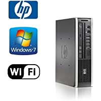 HP Elite 8300 Ultra-Slim Network PC - Intel Core i5 Quad 2.9 GHz, 4GB DDR3, NEW 120GB SSD, Windows 7 Pro 64-Bit, WiFi, USB 3.0, DVD-ROM (Prepared By ReCircuit)