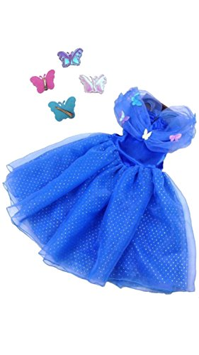 Dark Disney Princesses Costumes (New 2015 Cinderella Dark Blue Dress (6-7 Years, 2-Piece Set))