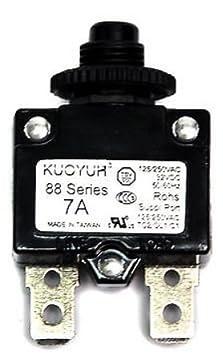 1pc KUOYUH Circuit Breaker 88 series 125//250VAC 50//60Hz 12A