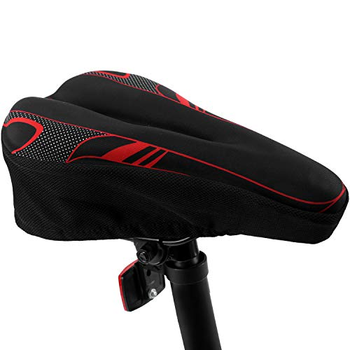 Bike Seat Cover Gel Bicycle Saddle Cushion with Memory Foam for Women Man & Kids to Ride on BMX,Confort,Electric,Fixed Gear,Mountain,Road,Cyclocross,Tandem Bikes