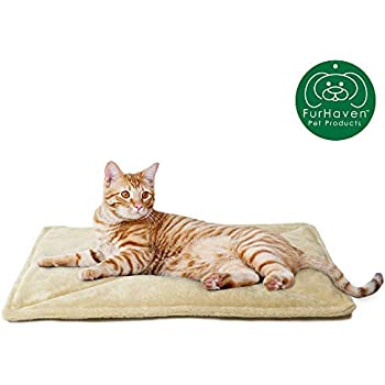 Furhaven Pet Dog Bed Heating Pad | ThermaNAP Quilted Faux Fur Insulated Thermal Self-Warming Pet Bed Pad for Dogs & Cats, Cream
