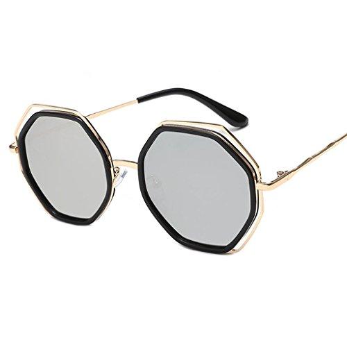 de los de personalidad X852 sol Gafas elegantes sol de 3 las 3 Gafas señoras LYM de moda Color de protecciónn hombres Gafas de amp; la de amp;Gafas coreana redondas 4qx7OTwZY