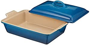 Le Creuset Heritage Stoneware 12-by-9-Inch Covered Rectangular Dish, Marseille