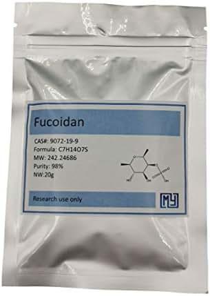 20 Grams Higher Assay Fucoidan 85% Powder,CAS 9072-19-9