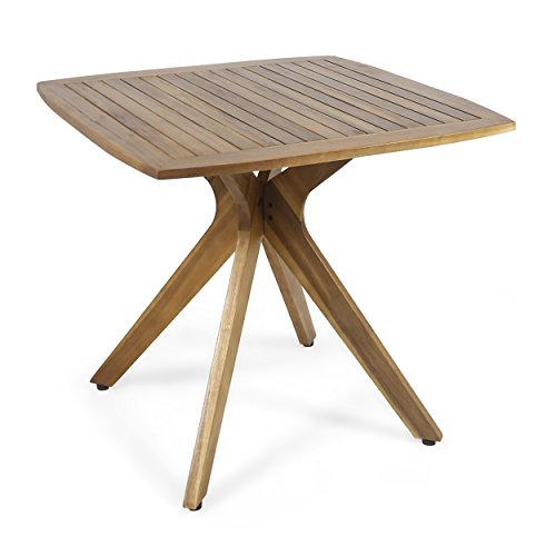 Teak Square Table - Great Deal Furniture Stanford Outdoor Square Dining Table with X Base, Teak