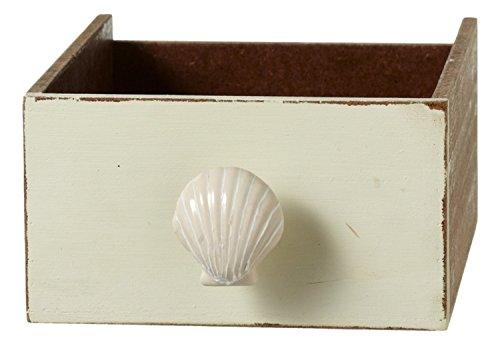 Creamy White Ceramic (Creamy White Seashell Drawer Knob Pull Ceramic)