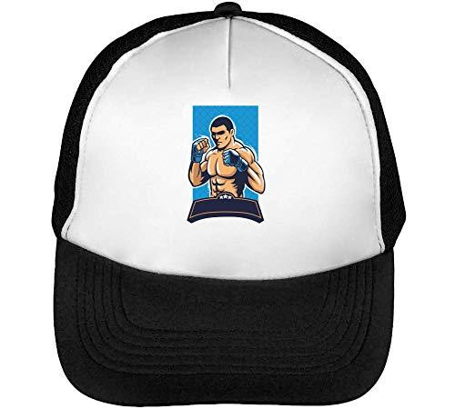 Gorras Blanco Logo Mma Negro Beisbol Hombre Snapback Fight w7xqBxz