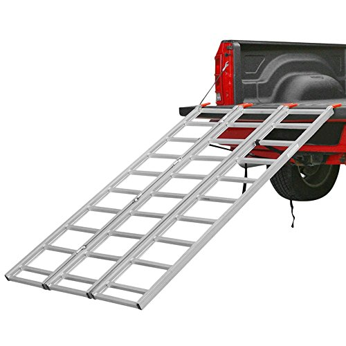 Black Widow TF-8046 Full Width Aluminum 3-Fold ATV Truck Loading Ramp