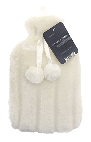 CC Hot Water Bottle with Super Soft Luxury Plush Cover | 2 litres hot water...