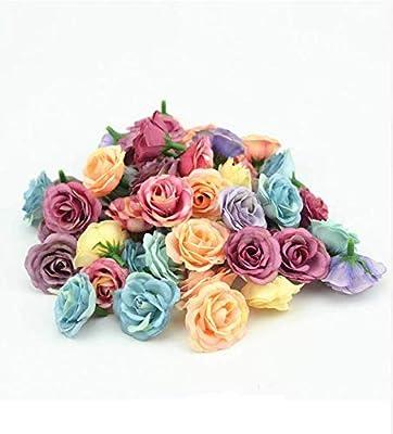CHIPYHOME 50 Flores Artificiales de Ideales Tonos otoño/Invierno ...