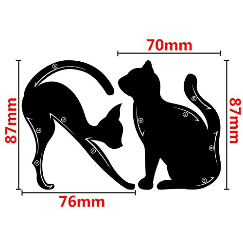 Wisdompark 4 Piece Cat Eyeliner Stencil, Matte PVC Material Repeatable Use Eyeliner Template Plate For Everyone from Beginner to Professionals