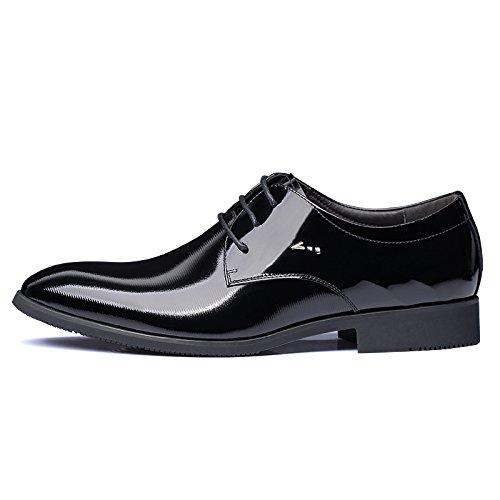 Chaussures Mariage Habillées pour Pointues de Chaussures Mode LEDLFIE Hommes Chaussures Mariage de Chaussures Black Hommes OBwdHIq
