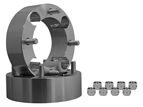 SuperATV 2'' Aluminum Heavy Duty Wheel Spacers for Honda 300-400EX/450R (All Years) - 4/144 Bolt Pattern - Pair - Fits FRONT ONLY by SuperATV.com