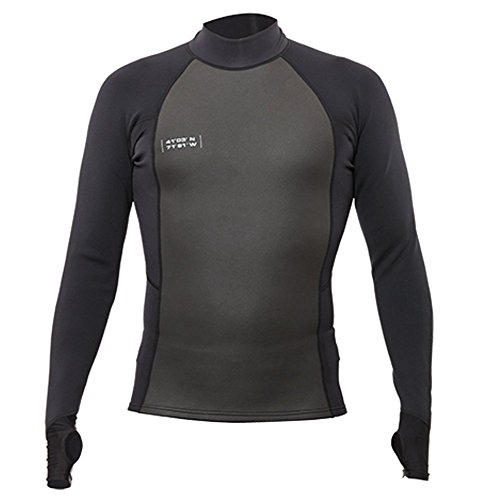 Ultra Insulation - WETSOX Wetsuit Skins Shirt with Extended Form Fit Cuff and Thumb Loop, Keeps Shirt in Place, +1mm Neoprene Insulation, Ultra Thin and Stretchy Material, UV Sun Protection and Rash Guard (Medium)