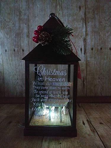 Christmas In Heaven Lantern.Empty Chair Christmas Lantern Christmas In Heaven Led Lantern Memorial Light
