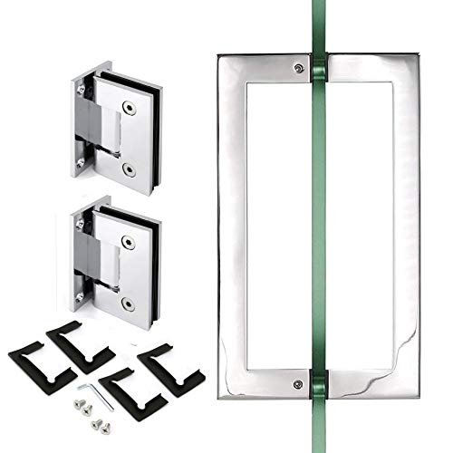 Polished 90 Degree Geneva Wall to Glass Shower Door Hinge for 1/2