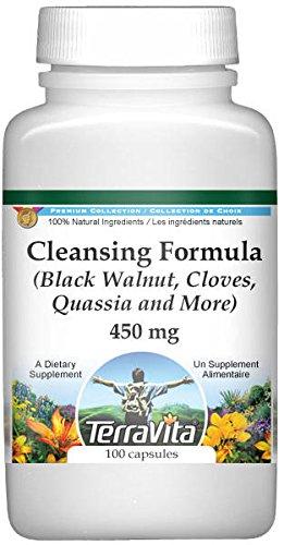 Cleansing Formula - Black Walnut, Cloves, Quassia and More - 450 mg (100 Capsules, ZIN: 510989)