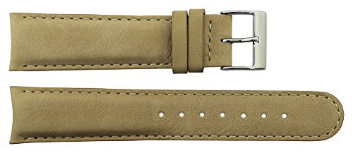Tellus Brown Calf Leather Band Replacement Pin Clasp, 20mm Strap _ B20023