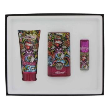 Love & Luck By CHRISTIAN AUDIGIER For Men Gift Set - 1.7 oz Eau De Toilette Spray + 3 oz Hair & Body Wash + .25 oz Mini (0.25 Edt)