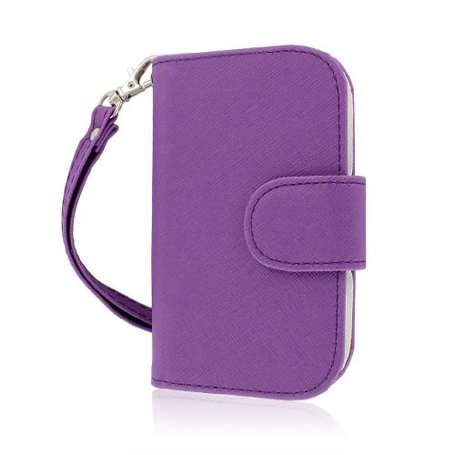 Blackberry Curve Wallet Case, MPERO FLEX FLIP Wallet Case for BlackBerry Curve 9310 9320 - Purple