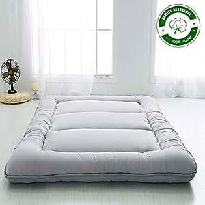 Amazon.com: Colchón de piso japonés, colchón de futón ...