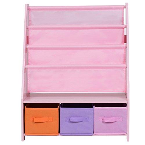 Buy Toy Story Furniture - onestops8 Kids Sling Bookshelf Bookcase and Toys Organizer Shelves W/3 Free Storage Boxes