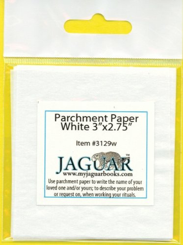 12 Parchment Paper 3''x2.75'' to Write on: Names, Problems or Requests When Working Your Rituals. Papel Pergamino Para Escribir Nombres, Peticiones O Problemas En Rituales De Magia by Libros del Jaguar