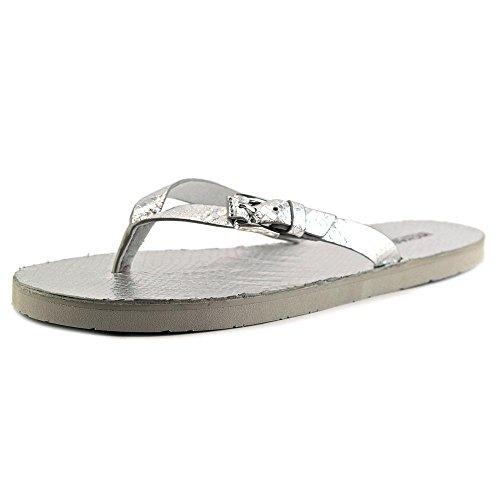 MICHAEL Michael Kors Jocelyn Thong Women US 10 Silver Thong - Sandal Platform Jocelyn Womens