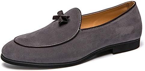 Zhulongjin Mocasines sin Cordones con Punta Redonda for Hombres Mocasines Ligeros y Casuales Zapatos náuticos Suela de Goma de Cuero de Gamuza Genuina Resistente al Desgaste Moda: Amazon.es: Hogar
