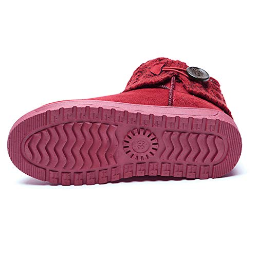 Nieve De Botas Summer Unidas Mujer Rojo Mae Punto 4nU4BOIax