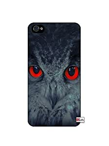 Mystic Owl Cool Eyes iPhone 4 Quality Hard Snap On Case for iPhone 4 4S 4G - AT&T Sprint Verizon - Black Frame